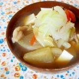 生姜風味のすっきり豚汁