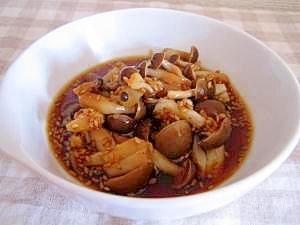レンジで簡単。すき焼きのタレでキノコ煮