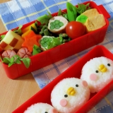 簡単キャラ弁☆カナヘイ ピスケ(風)のお弁当♪