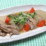 鶏手羽中と根菜の煮物