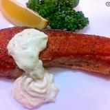 ☆鮭のムニエルバジル風味☆タルタルソース添え