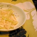 長芋とウドの酢の物