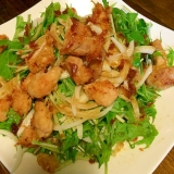 カリカリ☆チキンと水菜のサラダ