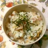 ☆・玉ねぎと豚バラ肉のお茶漬けの素炒めご飯☆*:・