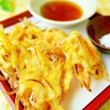 天ぷら粉で簡単に♪さつま芋入りの野菜かき揚げ