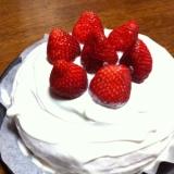 デコレーションケーキ☆卵&乳製品なし