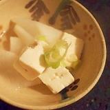 旬を楽しむ☆ 蕪入り☆湯豆腐♪