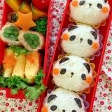 簡単デコおにぎり☆パンダのおにぎり弁当♪