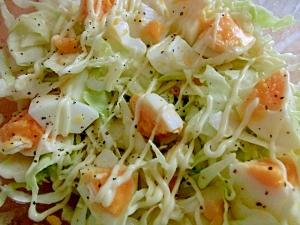 キャベツと茹で卵のサラダ☆
