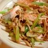 野菜と一緒でバランスアップ!!「鮭の中華炒め」献立