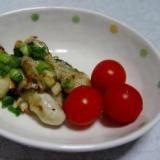 牡蠣(カキ)のガーリックぽん酢焼き