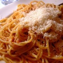 トマトジュースでチーズトマトパスタ