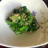小松菜のナムル 鉄分・カルシウムはほうれん草以上