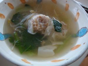 シュウマイで作る中華スープ