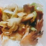 舞茸キャベツの味噌炒め