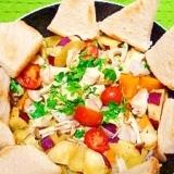 減塩☆チキンと野菜の蒸し焼き