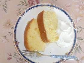 パウンドケーキ型でも出来る!シフォンケーキ