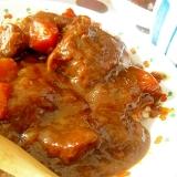 牛すね肉のビーフシチュー 圧力鍋使用