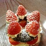 子供と作る簡単かわいいドーナツケーキ♪