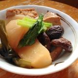 かぶらと干し椎茸と厚揚げの煮物