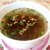 生姜ピリッと♪もずく酢スープ
