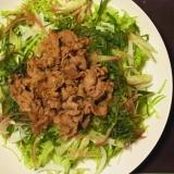 野菜をもりっと食べれる豚の生姜焼き。