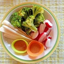 野菜スティック 酢味噌ディップでヘルシーに^^
