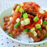 ✿キムチ納豆丼❤