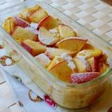 [お手伝いレシピ] リンゴの簡単パンプディング