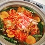 辛くて美味しい!タコ入りキムチ鍋