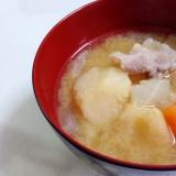 圧力鍋で☆根菜がとろける豚汁