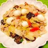 白菜と豚肉の☆餡かけ炒め