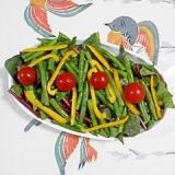 ほうれん草といんげんのサラダ