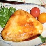カジキマグロのバター醤油ソテー