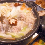 *鶏と鱈の水炊き鍋。〆が美味しい♡おじや付き*