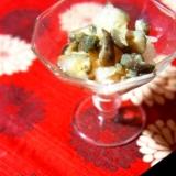 冬の肴、ナマコの霙和え
