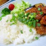 ワンプレートでカフェ風☆鶏肉と茄子のピリ辛炒め
