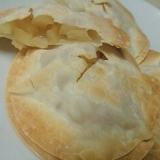 餃子の皮でパリバリアップルパイ風