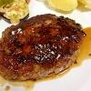 お肉の美味しさを存分に楽しめる♪「牛肉のハンバーグ」献立