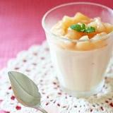 フレッシュ桃の簡単ムース