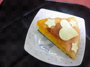 白玉粉入りモチモチカボチャケーキ風