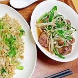 鶏肝のレバニラ炒め(塩分1.45g)