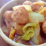 白菜と肉団子の煮物