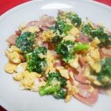 焼豚・ブロッコリー・卵の炒め物