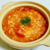 キムチとトマトのチーズ雑炊