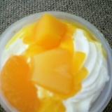 子供と作る簡単フルーツプリン