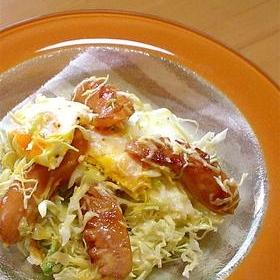 ケチャップソーセージのサラダ
