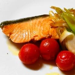 秋生鮭のネギバター醤油