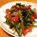 空芯菜と夏野菜のタイ風炒め