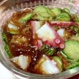 もずく酢で簡単♡蛸と胡瓜の酢の物